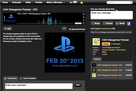 Podomatic Screenshot