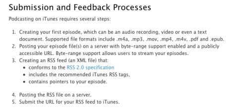 iTunes Submission and Feedback Process